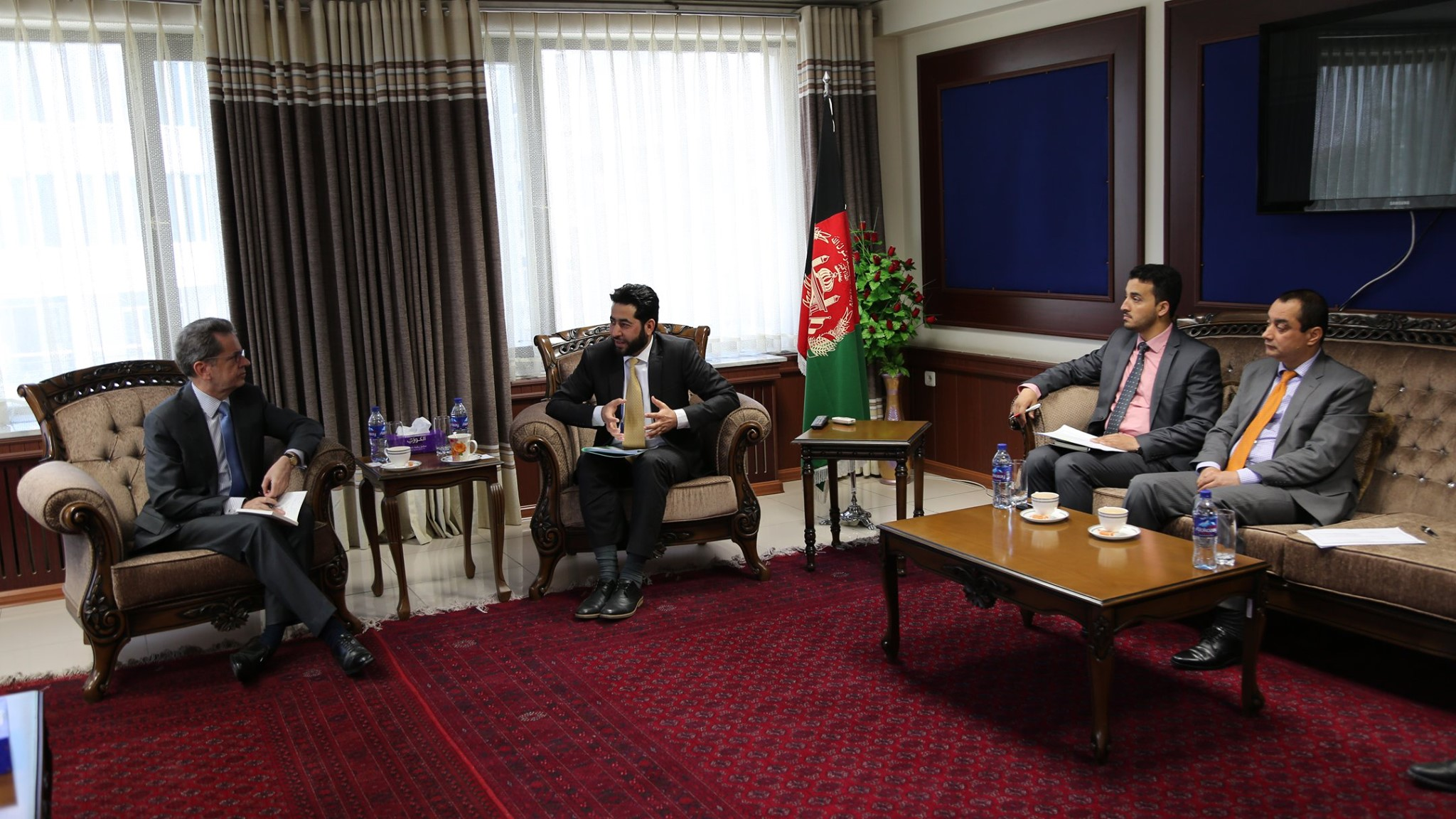 The Auditor General of the Supreme Audit Office meet with the European Union Ambassador to Afghanistan